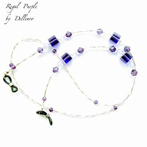 c6c7f072671b ... Glass ~regal Handcrafted Eyeglass uk Chain Spectacles Holder  Purple~crystal Beaded Glasses awqxUO ...
