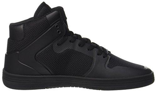 Supra Vaider 2.0 Hombres Round Toe Zapato De Skate Negro Sintético Negro-negro