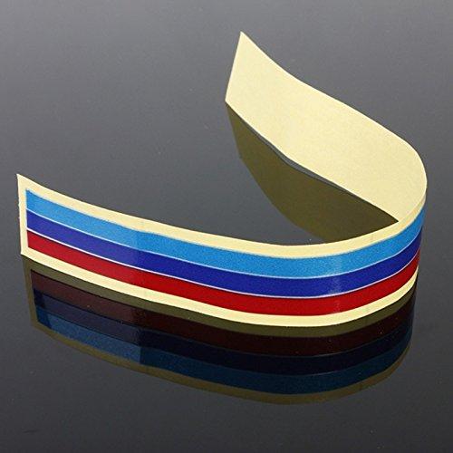 WOVELOT Calcomania Pegatina de Tira del Vinilo de Parrilla de 3 Colores para BMW M3 M5 E36 E46 E60 E90 E92
