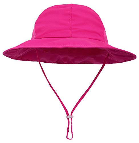 - SimpliKids Girls Kids Sun Hats with UV Protection Wide Brim Bucket Hat Rose