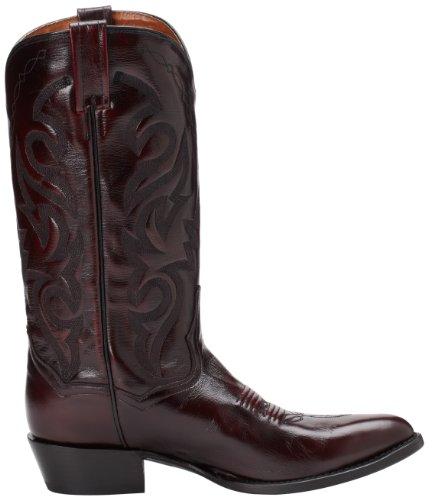 Dan Legg Menns Milwaukee 13 Vestlige Boot Black Cherry