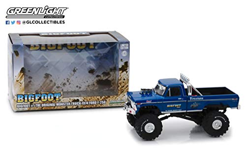 1:43 Bigfoot #1, The Original Monster Truck - 1974 Ford F-250, Authentic Decoration, Real Rubber Tires, Metal Chassis, True-to-Scale Detail, Limited Edition, from Greenlight