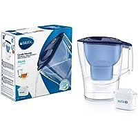BRITA Aluna azul- Jarra de Agua Filtrada con 1 cartucho MAXTRA+, Filtro de agua BRITA que reduce la cal y el cloro, Agua…