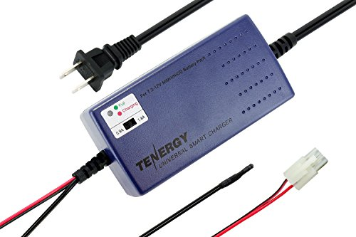Tenergy Smart Universal Charger for NiMH / NiCd Battery pack 7.2V - 12V with charging current Selection/Temperature - Nicd Nimh