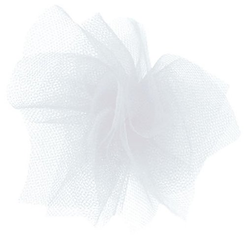 Offray Tulle Craft Ribbon, 6-Inch by 25-Yard Spool, White
