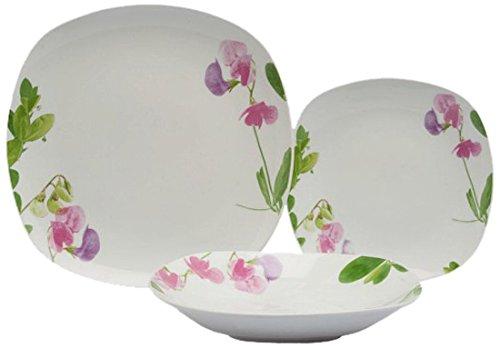 Tognana 18 Piezas Juego de Mesa Splendor de Porcelana, diseño de ...