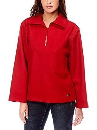 649d205594 Dalmard Marine - Veste Laine Made in France Couleur - Rouge, Taille Femme -  44