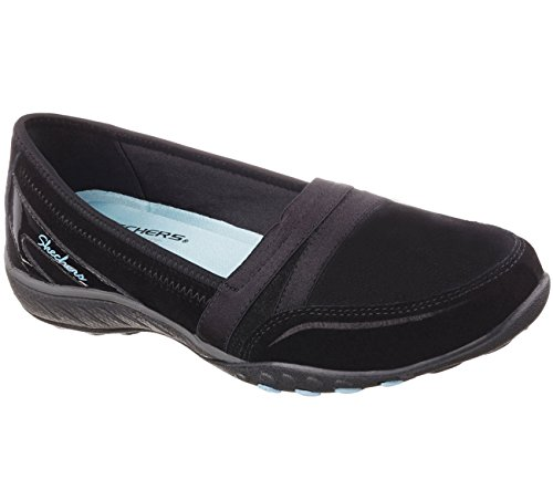 Skechers Relaxed Fit Breathe Easy Leisurely Mocasines Para Mujer Negro