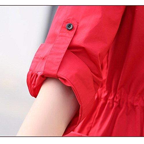 Quilten Frühlings- und Herbstfrauenjacke Sieben Ärmel modisches Temperamentkleid Dünner Mantelmantel (3 Farben wahlweise freigestellt) (Größe wahlweise freigestellt) Befestigung ( Farbe : A , größe : C