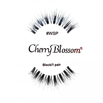 762f31eed1e Amazon.com : Cherry Blossom 100% Human Hair Lashes 6 pair #WSP by Cherry  Blossom : Beauty