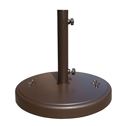 86 lbs. Brown Patio Umbrella Base with Hidden Wheels by Generic