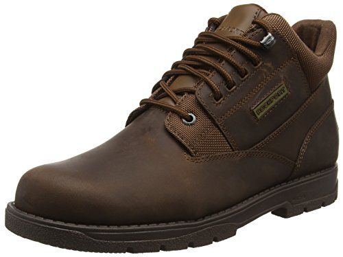Rockport Homme Marron Boston Plain Toe Brown Tan Bottines Hike Treeline 6Tq6wnCv