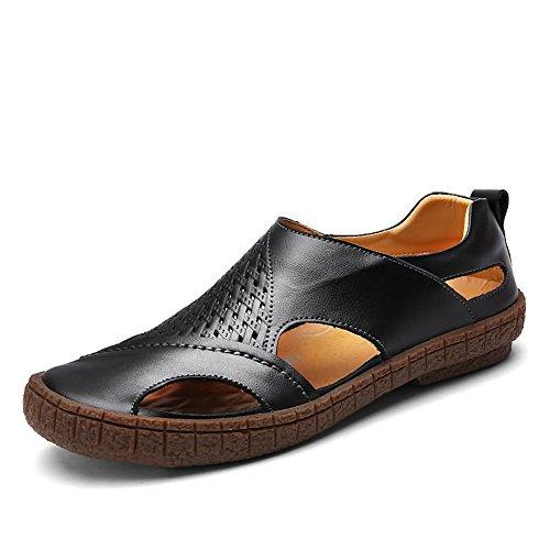 Nero spillo shoes per tacco Tacco Mens piatto 2018 con a uomo fRxqSTv