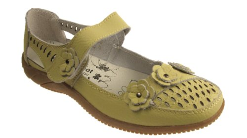 DR LIGHFOOT LEATHER CASUAL COMFORT MARY JANE FLAT SHOES SANDALS Pistachio g1tns