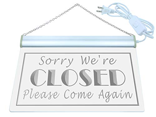 ADV PRO Sorry We're Closed Shop Close Neonschild LED Sign Night Light i102-b(c) (Closed Neon Sign)