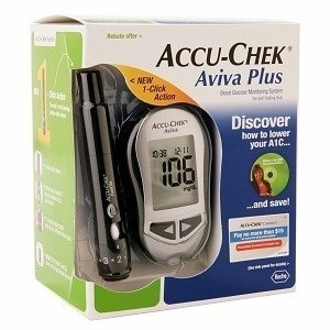Accu-chek Aviva Plus Blood Glucose Meter Complete Kit High Quality Best Seller of My Shop Fast Shipping Ship Worldwide Best Gift