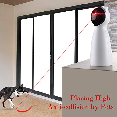 Yvelife Cat Laser Toy Automatic,Interactive Toy for Kitten/Dogs - USB Charging,Placing Hign,5 Random Pattern,Automatic On/Off and Silent (P01), White, Medium 4