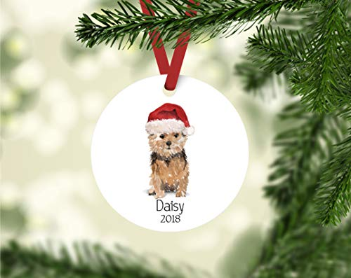 (Norfolk Terrier Ornament, Personalized Dog Ornament, Personalizesd Terrier Ornament, Norfolk Terrier Owner Gift, Terrier Ornament Keepsake Gift 3