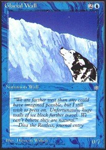 Year 20 Wall Blue - Magic: the Gathering - Glacial Wall - Ice Age