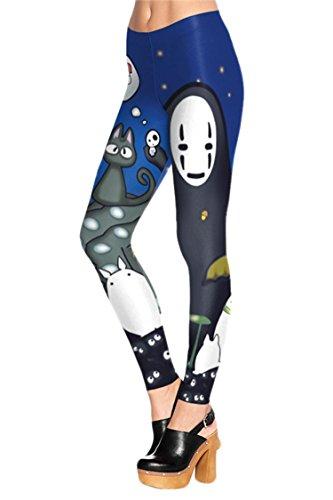 Juniors Cute Anime Digital Printed Leggings One Size