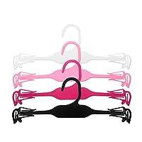 HAKRT Hanger Plastic Hanger for Bra, Lingerie Hanger and Underwear Hanger (50pieces/lot),Black