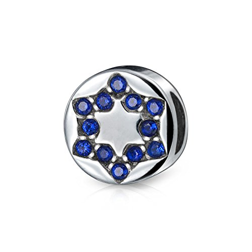 Bling Jewelry Star of David 925 Sterling Silver Holiday Bead Troll Pugster ()