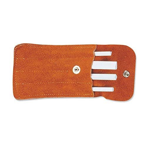 Spyderco - White Ceramic Sharpening File Set with Suede Snap-Close Pouch - Ceramic Stone - 400F (Triangle Stone Polishing)