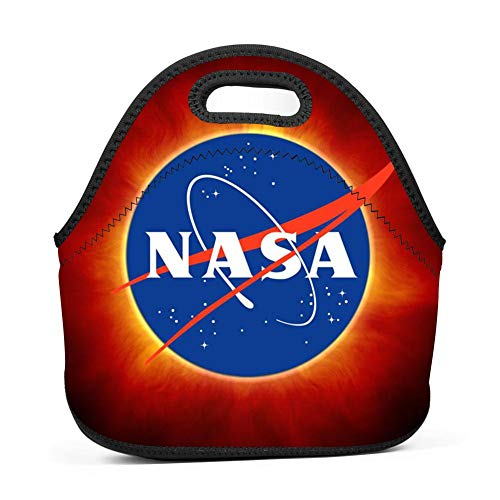 Solar Eclipse NASA Insulated Neoprene Lunch Bag Tote Handbag Lunchbox Food Container for School,Work,Office by 4LunchBagLunch4Box