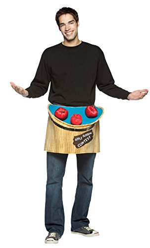 Bobbing For Apples Costumes (UHC Men's Comical Bobbing for Apples Outfit Funny Theme Party Costume, OS)