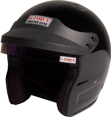 G-Force 3021LRGBK Pro Phenom Black Large SA10 Open Face Racing Helmet