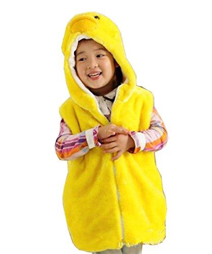 JOYHY Unisex Kids Animal Vest Hooded Cosplay Costume Duckling (Duckling Costume)