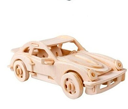 Dlong 3D DIY Assembly Construction Jigsaw Puzzle Handmade Educational Woodcraft Set Porsche Sports Car 911 Model Kit Toy for Adult and (Halloween Sales Promotion Ideas)
