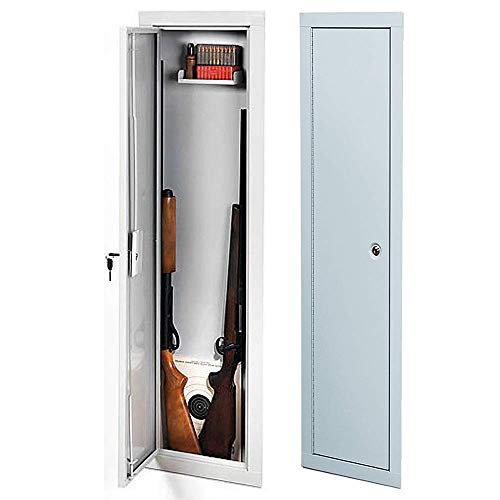 Schmidt Full Length Security Gun Cabinet | Wall Gun Storage Vault with Safe Key Lock | Approved Firearm Safety Container | Light Weight High Density Foam Interior | Large Heavy Duty for Shotguns Rifle