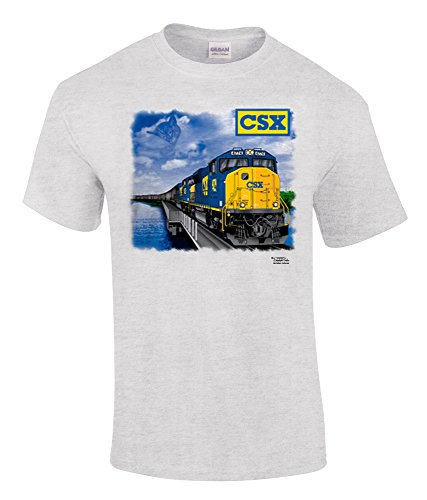 (Daylight Sales CSX Chessie Lives SD70ACe Authentic Railroad T-Shirt Kids Small (6-8) [35] Gray)