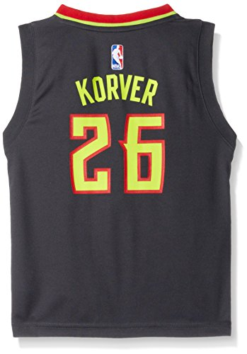 NBA Boys 4-7 Atlanta Hawks Korver Away Replica Jersey-Dark Grey-M(5-6)