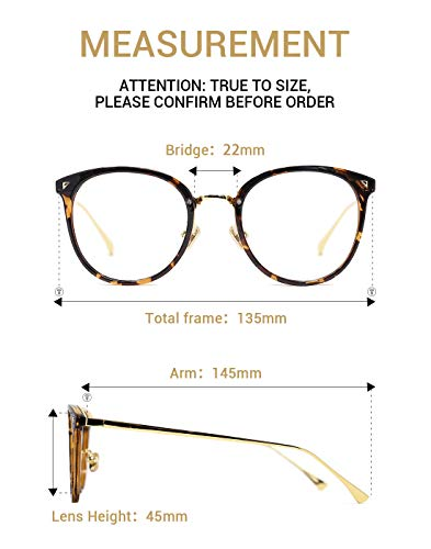 014bc960fd1a TIJN Women Retro TR90 Metal Round Glasses Frame Optical Rx-able Eyeglasses- Maaike