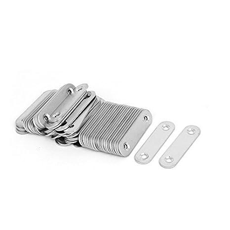 eDealMax 60mmx16mmx2mm acero inoxidable recta que une La ...