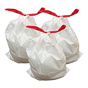 """Think Crucial 30PK Durable Garbage Bags Fit simplehuman® 'size """"J""""', 30-45L / 8-12 Gallon"""