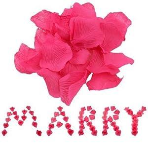 IDS 1000 Fuchsia Hot Pink Silk Rose Petals Wedding Flower 24