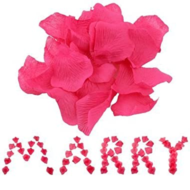1000 Fuchsia Hot Pink Silk Rose Petals Wedding Flower