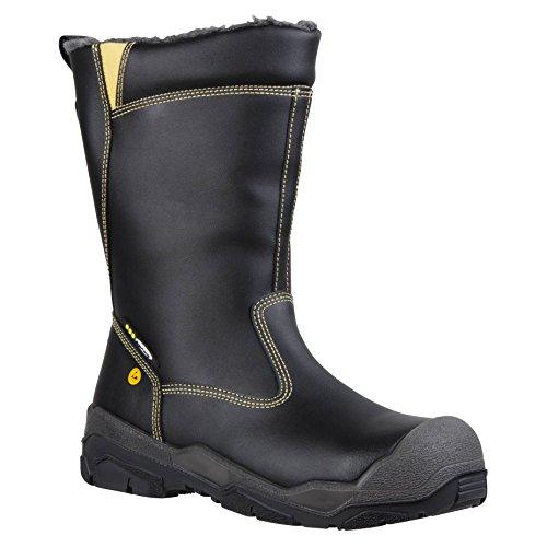 """Ejendals 1898–35misura 35""""JALAS 1898Re d' inverno stivali di sicurezza, colore: nero/grigio/giallo"""