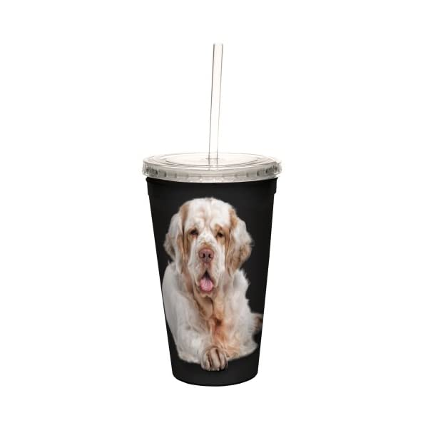 Tree-Free Greetings CC35035 I Heart Clumber Spaniels Artful Traveler Double-Walled Cool Cup with Reusable Straw, 16-Ounce 2