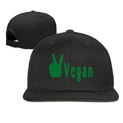 Vegan Peace 2 Plain Adjustable Snapback Hats Men's Women's Baseball Caps
