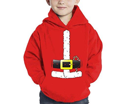 Santa Claus Costume Hoodie Sweatshirt (Red, 5\6)