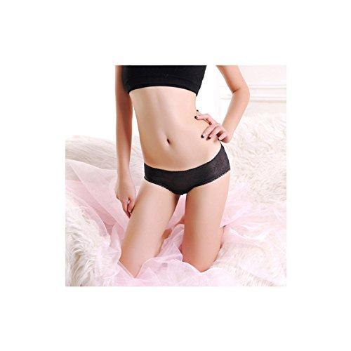 Ropa interior femenina encaje transparente cintura baja triángulo de la comodidad del algodón de la entrepierna 3 piezas son todo el código , a , m a
