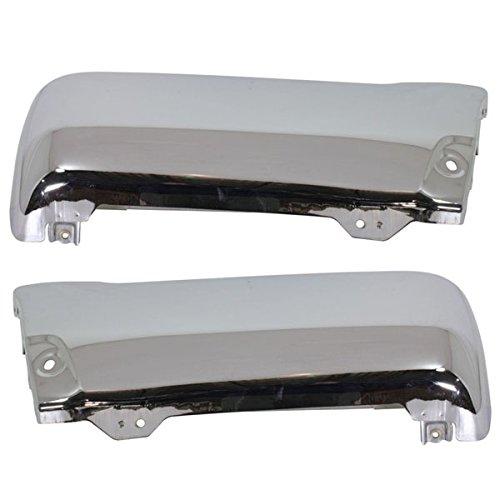 Partomotive For 96-02 4Runner Rear Bumper Face Bar Extension End Chrome Left Right SET PAIR