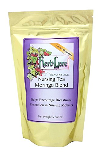 Herb Lore Organic Nursing Tea With Moringa, 60 Servings, Loose Leaf, Lactation...