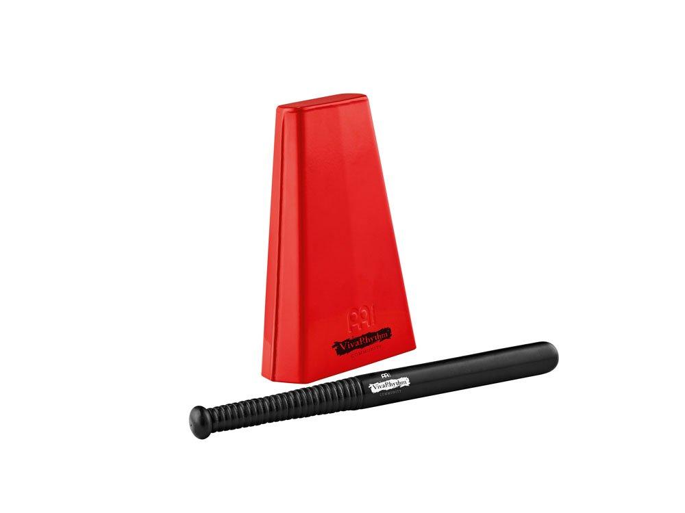 Meinl VivaRhythm VR-HCB-R Red Handheld Cowbell with Beater