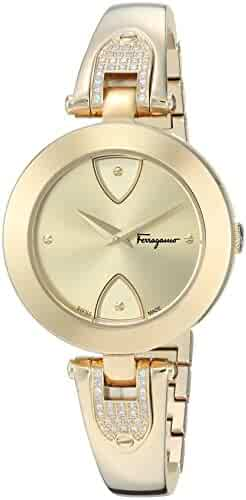 Salvatore Ferragamo Women's 'GILIO' Swiss Quartz Stainless Steel Casual Watch, Color:Gold-Toned (Model: FIW090017)