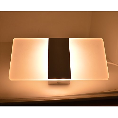 Lysed LED Wall Lamp,6W Warm White,Wall Light Night Light Wall Sconce Fixture Plug in or ...